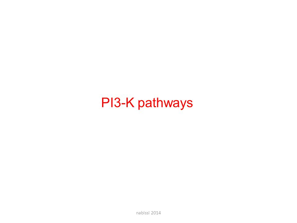PI3-K pathways nabissi 2014