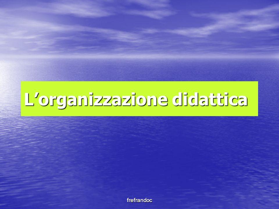 L'organizzazione didattica