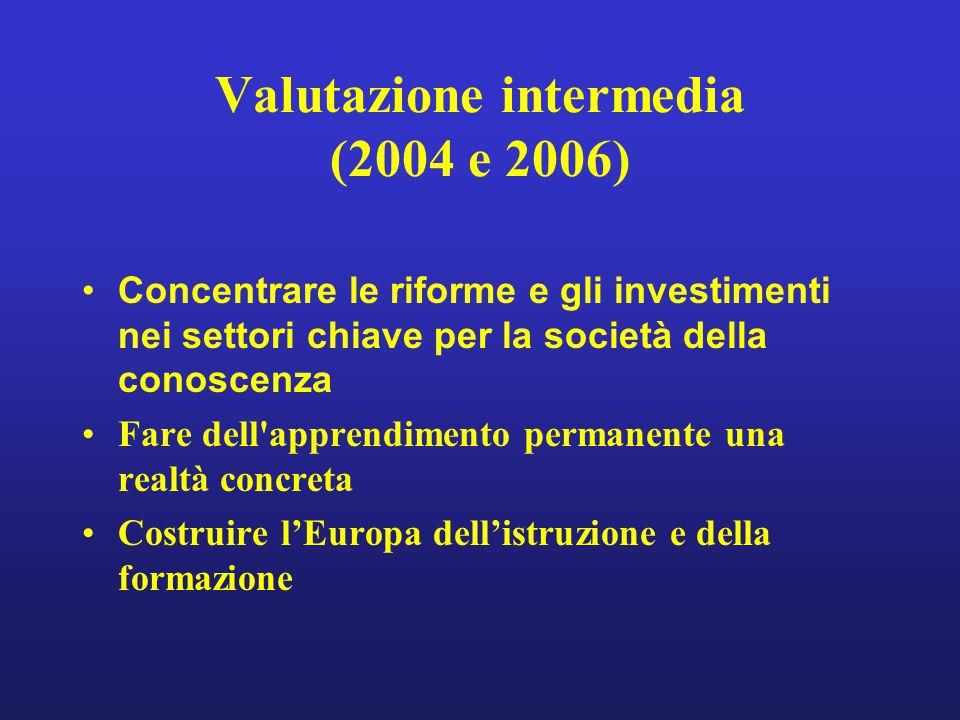Valutazione intermedia (2004 e 2006)