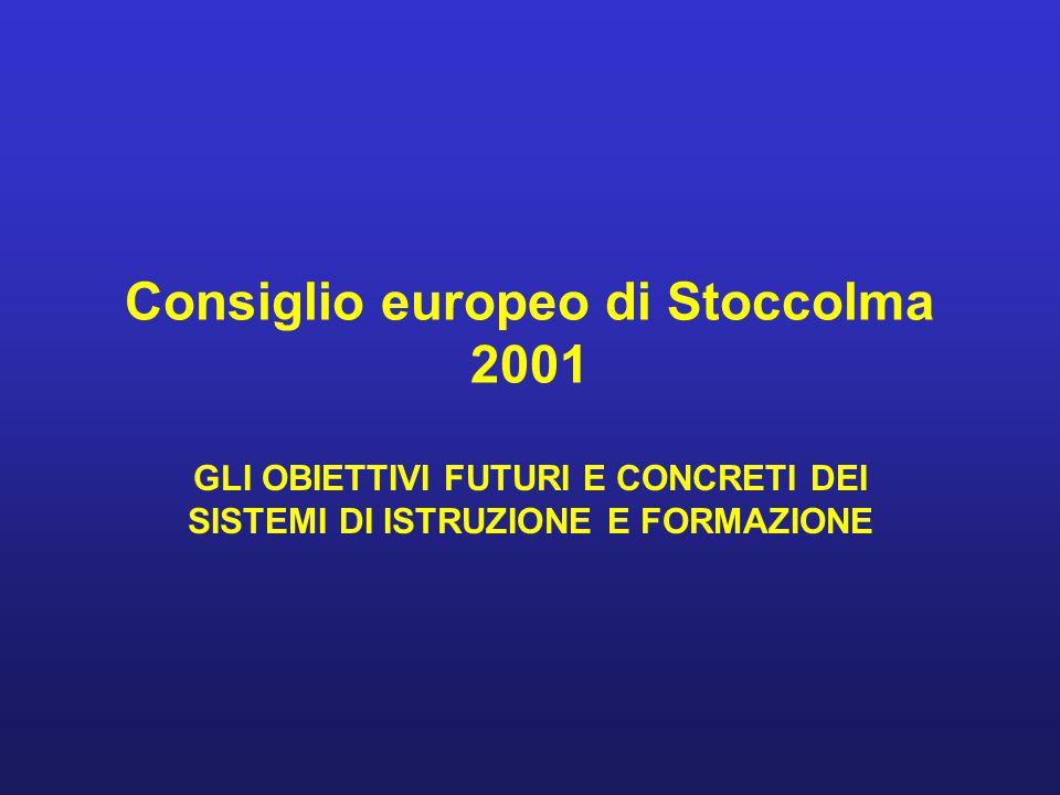 Consiglio europeo di Stoccolma 2001