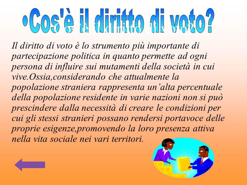 Cos'è il diritto di voto