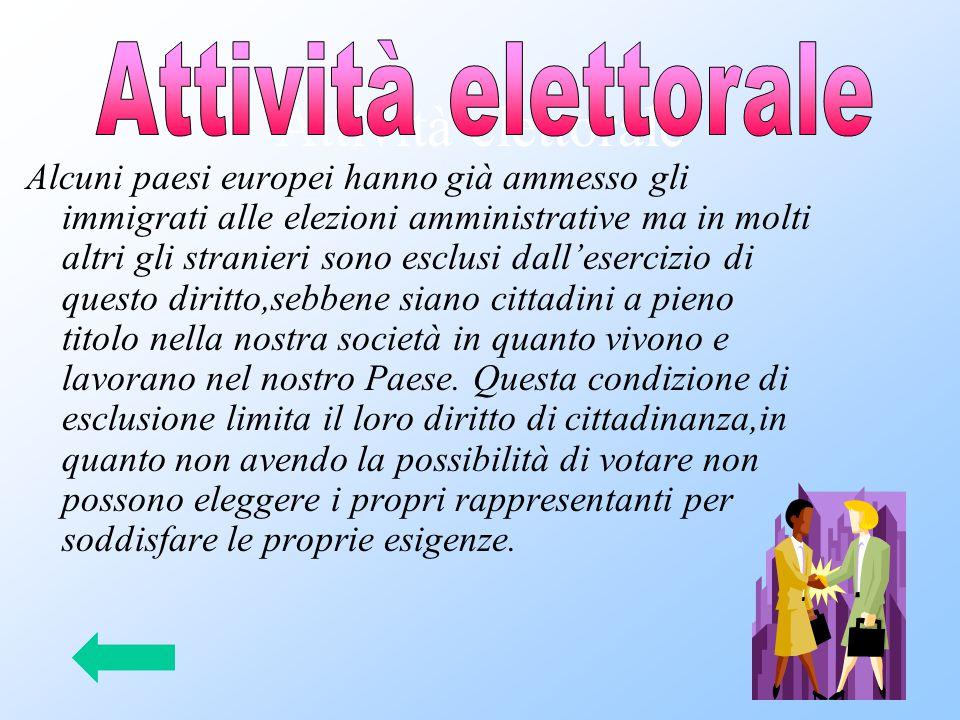 Attività elettorale Attività elettorale