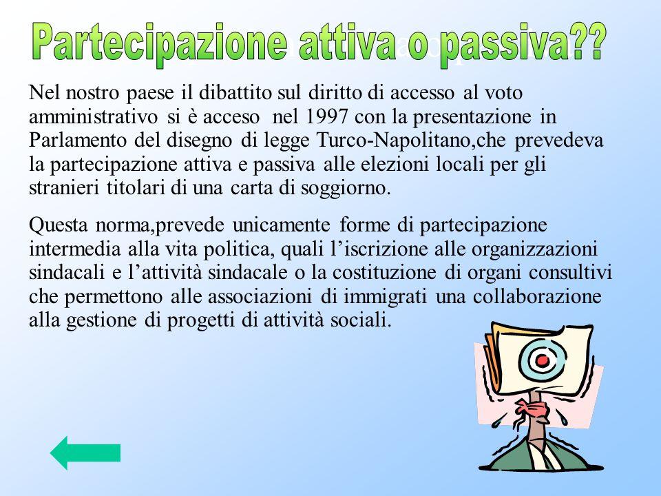 Partecipazione attiva o passiva