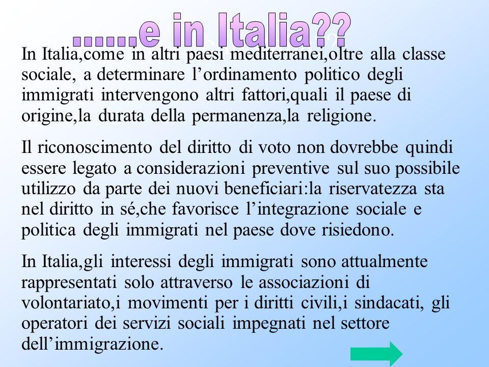 …….e in Italia ......e in Italia