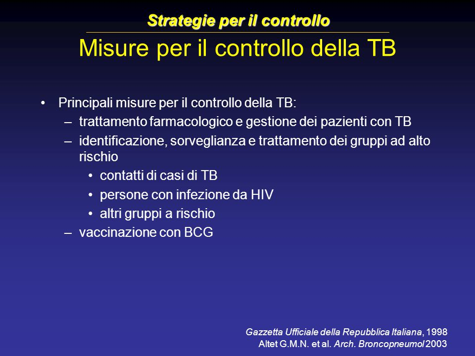 Strategie per il controllo