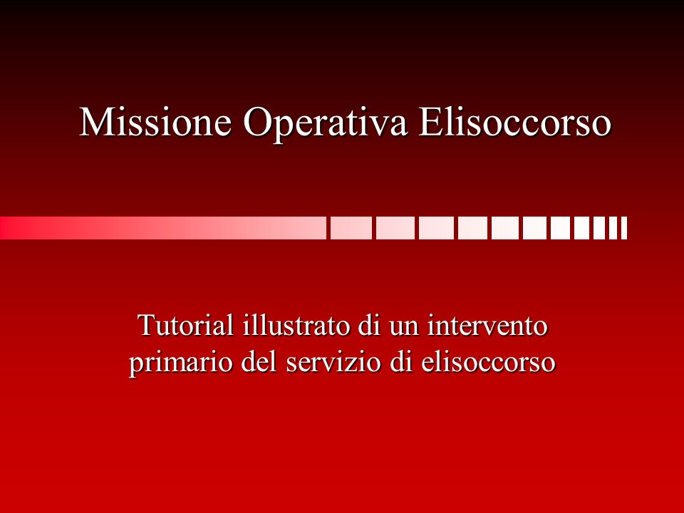 Missione Operativa Elisoccorso