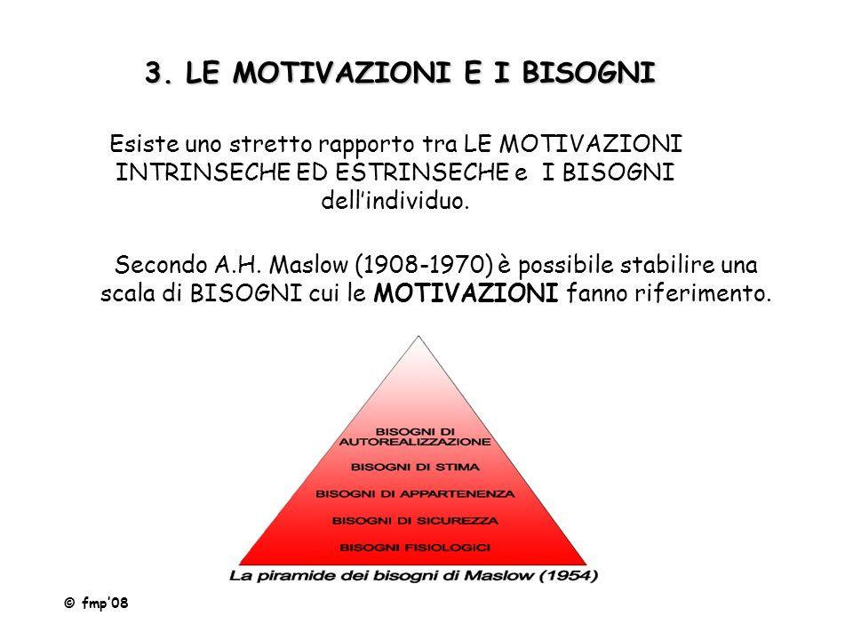 3. LE MOTIVAZIONI E I BISOGNI