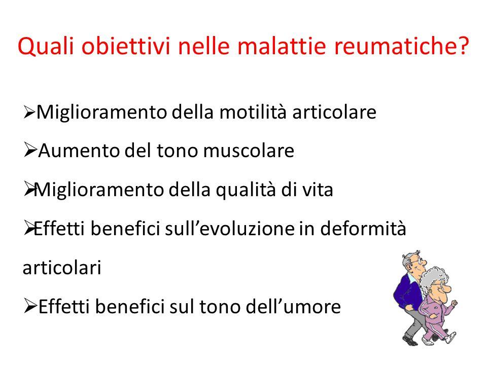 Quali obiettivi nelle malattie reumatiche