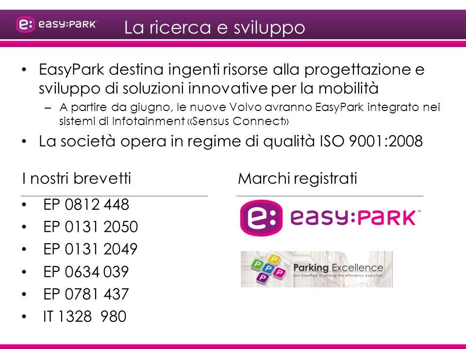 La ricerca e sviluppo EasyPark destina ingenti risorse alla progettazione e sviluppo di soluzioni innovative per la mobilità.