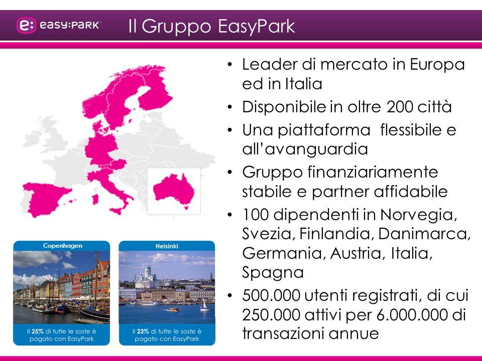 Il Gruppo EasyPark Leader di mercato in Europa ed in Italia