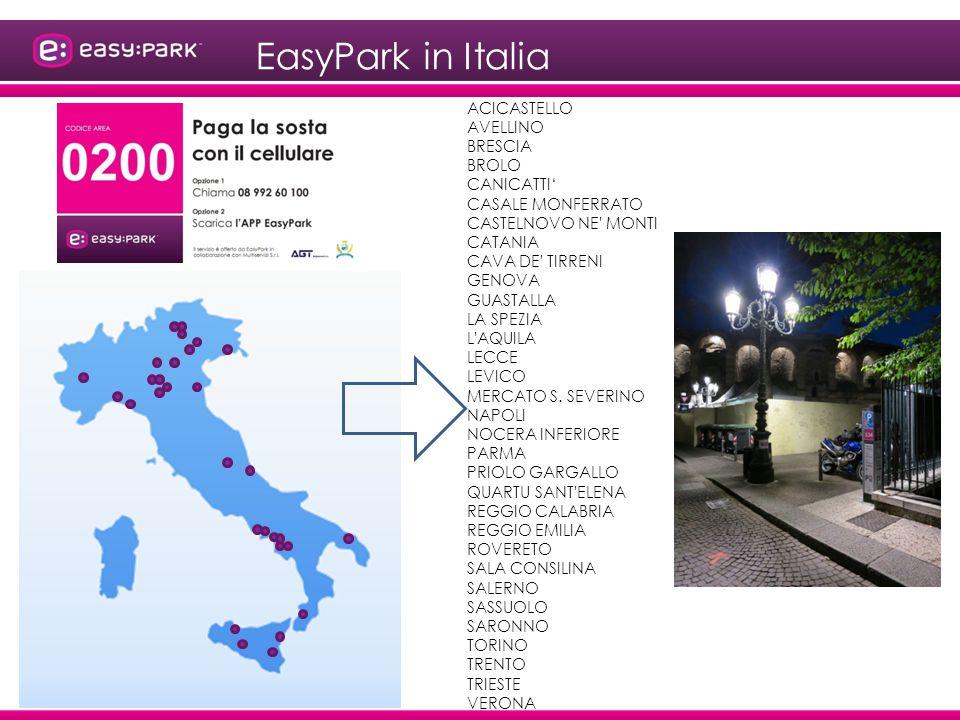 EasyPark in Italia ACICASTELLO AVELLINO BRESCIA BROLO CANICATTI'