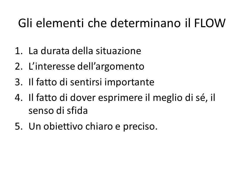 Gli elementi che determinano il FLOW