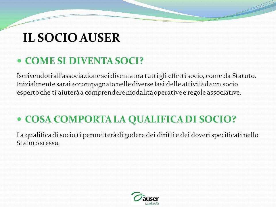 COSA COMPORTA LA QUALIFICA DI SOCIO