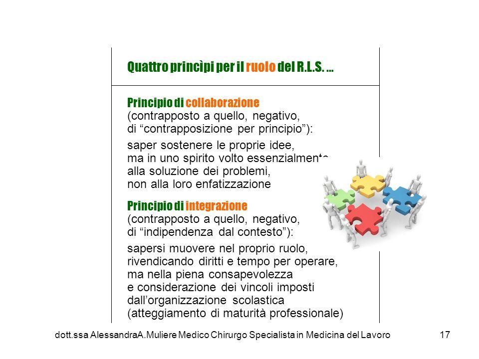 Quattro princìpi per il ruolo del R.L.S. …