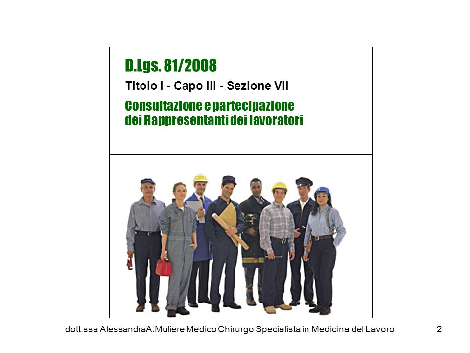 D.Lgs. 81/2008 Consultazione e partecipazione