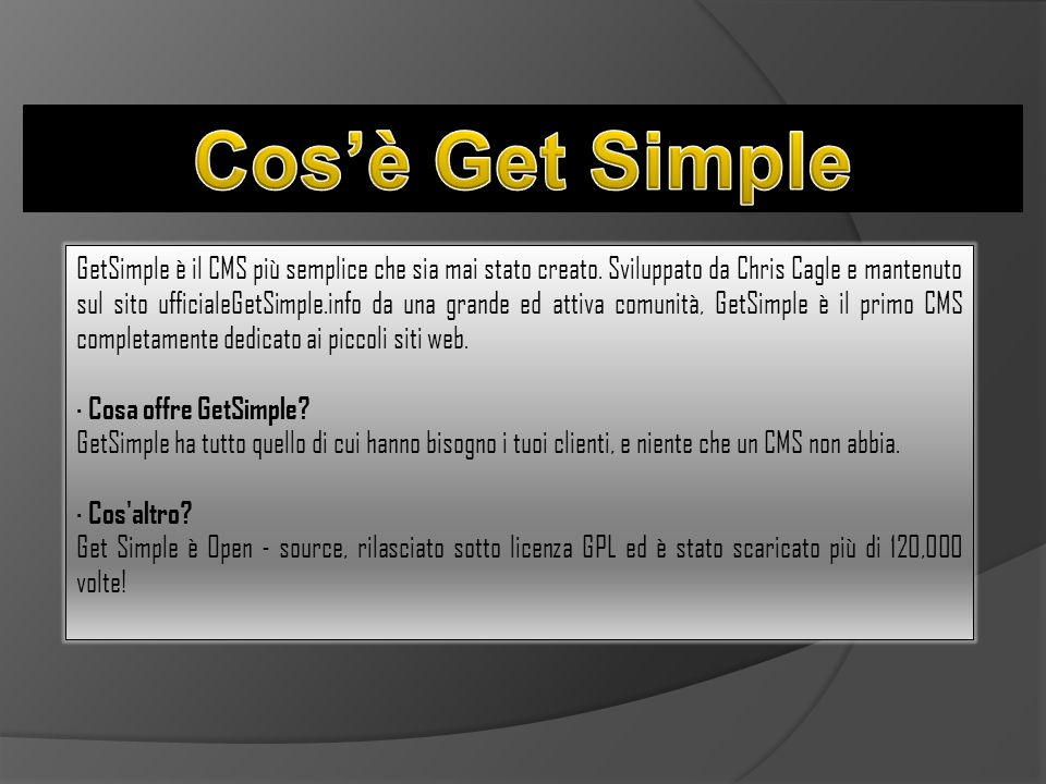 Cos'è Get Simple