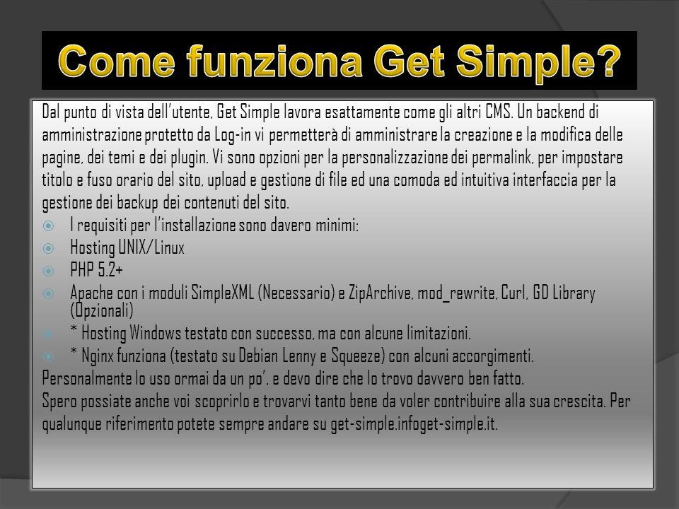 Come funziona Get Simple