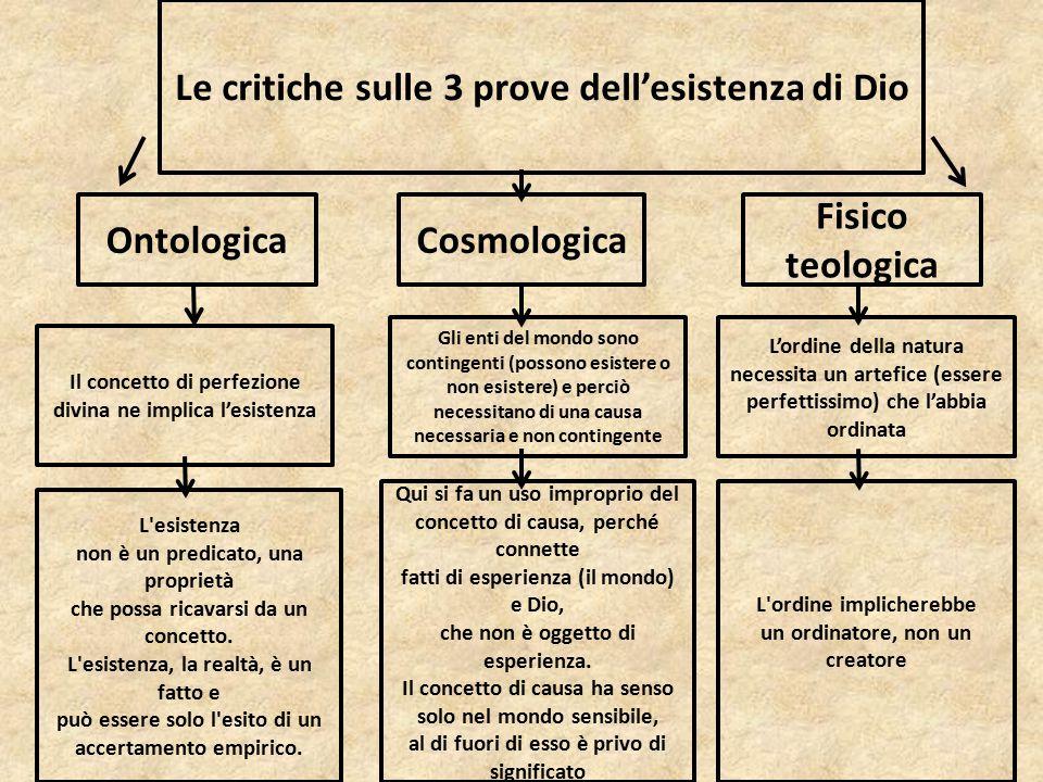Le critiche sulle 3 prove dell'esistenza di Dio
