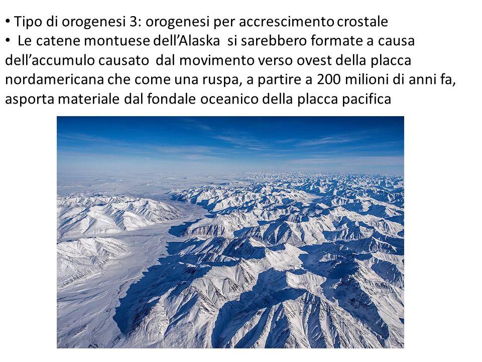 Tipo di orogenesi 3: orogenesi per accrescimento crostale