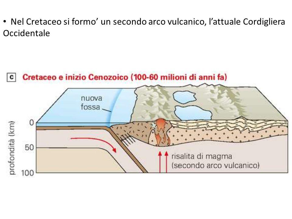 Nel Cretaceo si formo' un secondo arco vulcanico, l'attuale Cordigliera Occidentale
