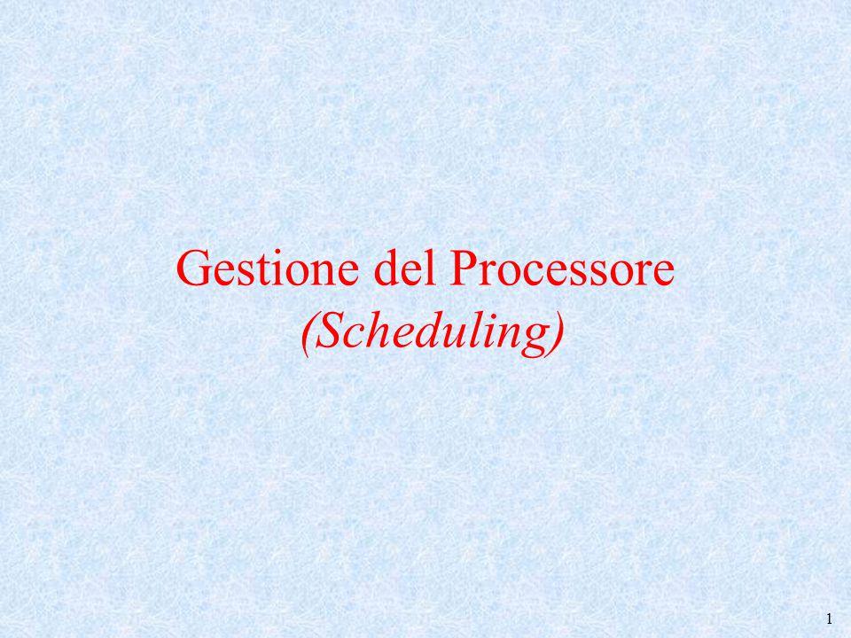 Gestione del Processore (Scheduling)