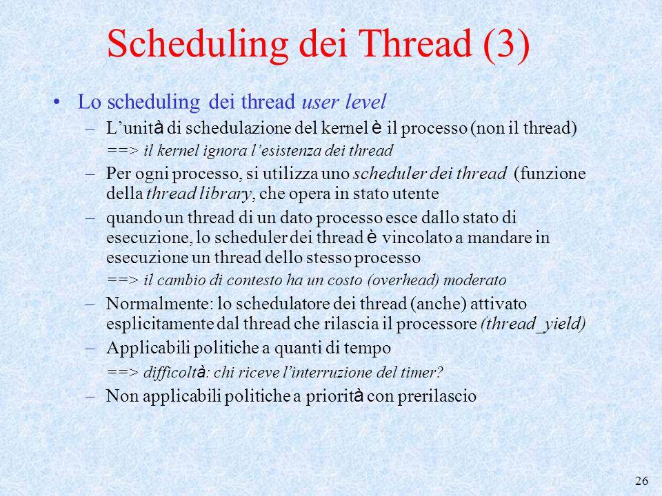 Scheduling dei Thread (3)