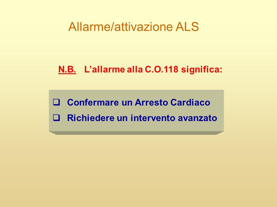 Allarme/attivazione ALS