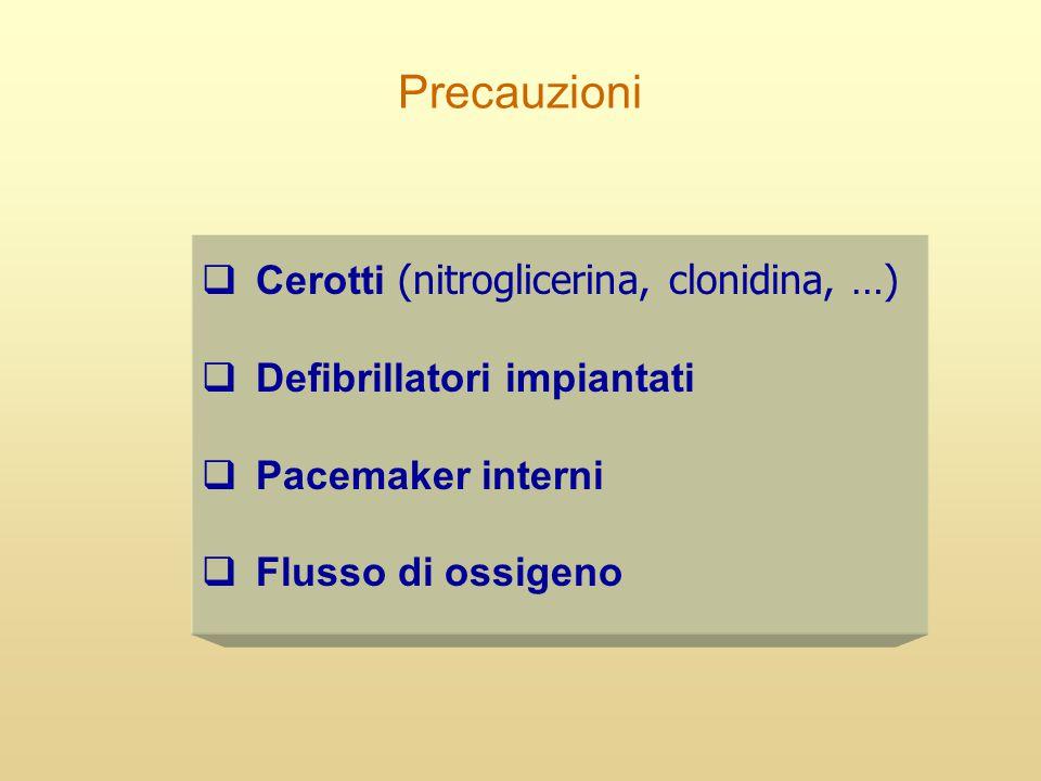 Precauzioni Cerotti (nitroglicerina, clonidina, …)