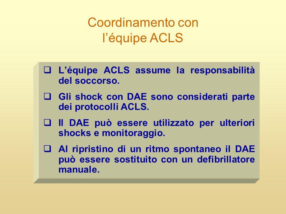 Coordinamento con l'équipe ACLS