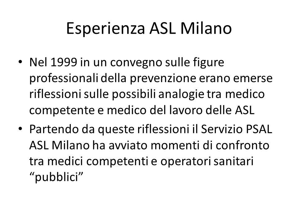 Esperienza ASL Milano