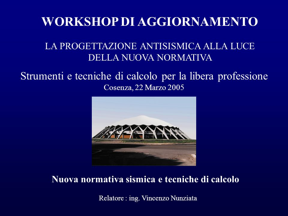 WORKSHOP DI AGGIORNAMENTO