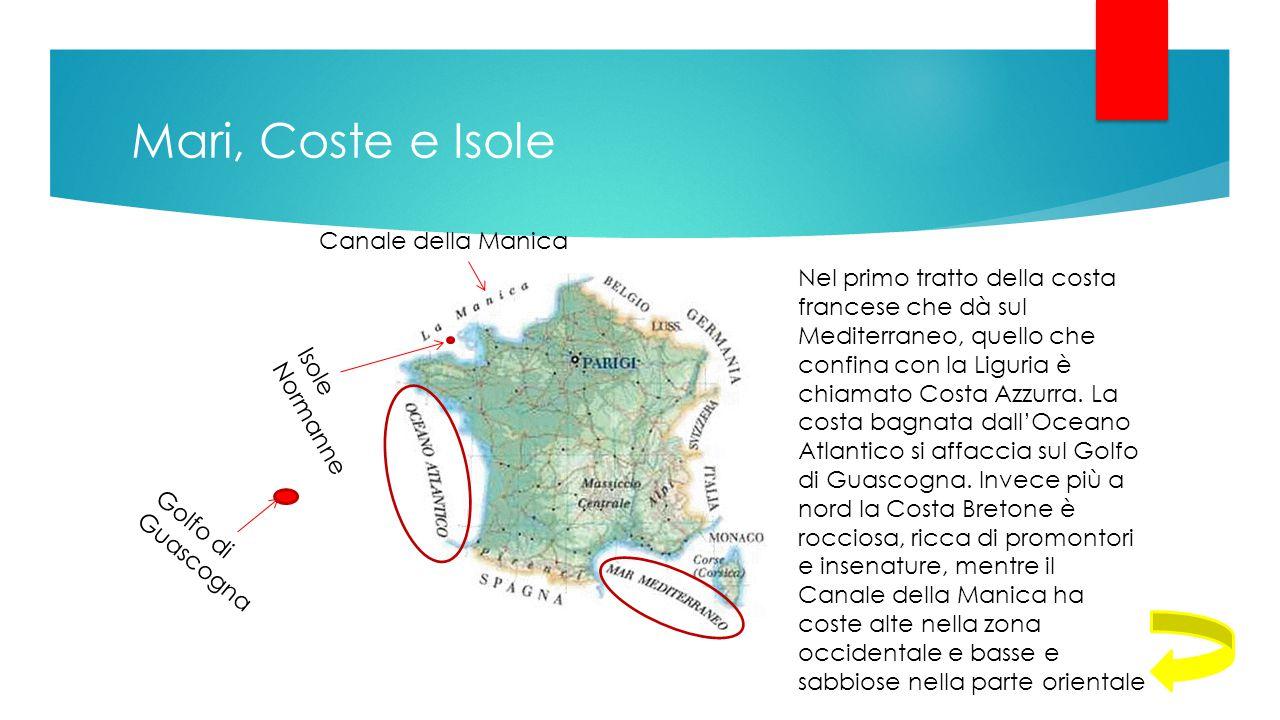 Mari, Coste e Isole Canale della Manica