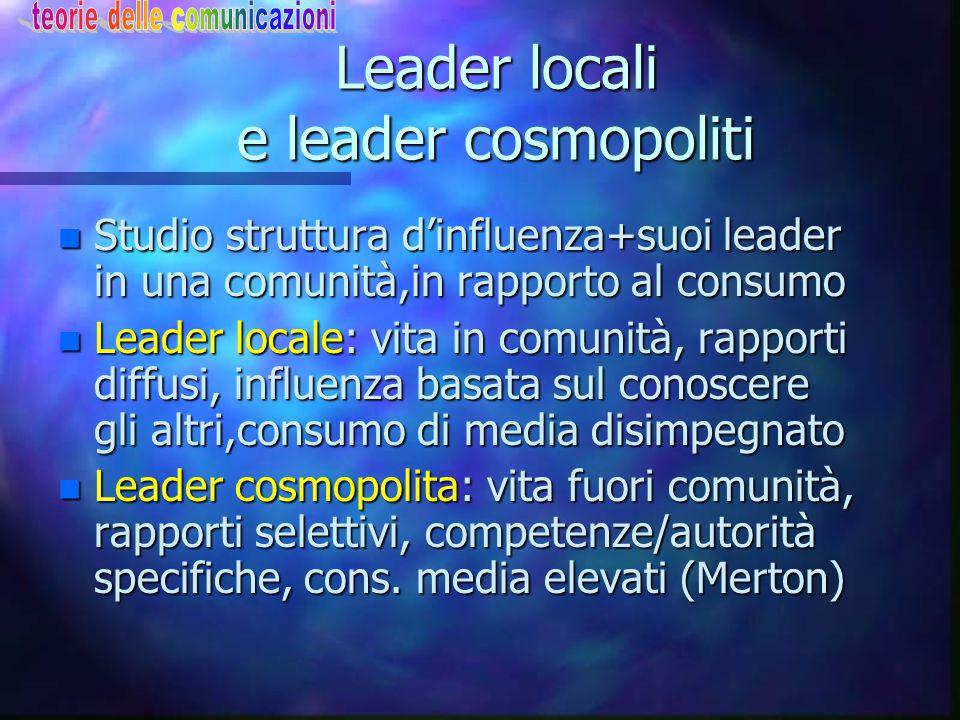 Leader locali e leader cosmopoliti