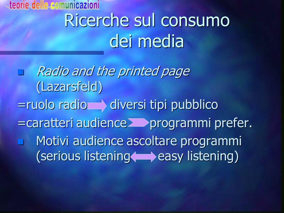 Ricerche sul consumo dei media