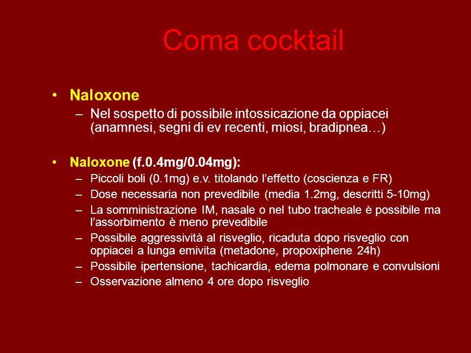 Coma cocktail Naloxone