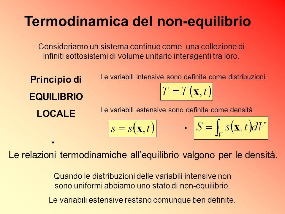 Termodinamica del non-equilibrio
