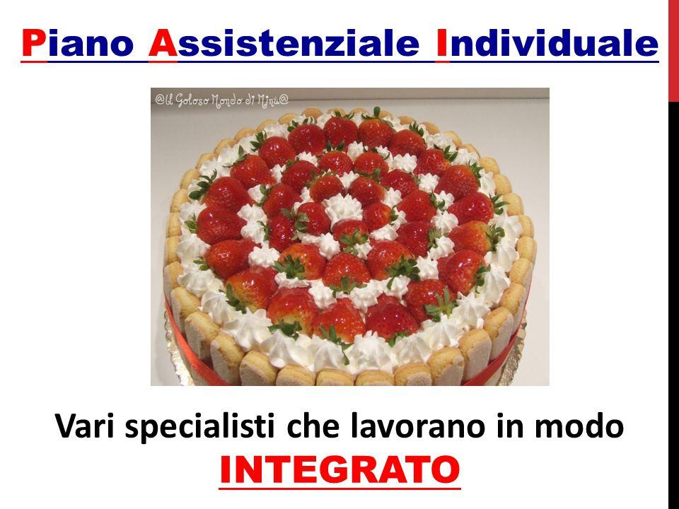 Piano Assistenziale Individuale Vari specialisti che lavorano in modo