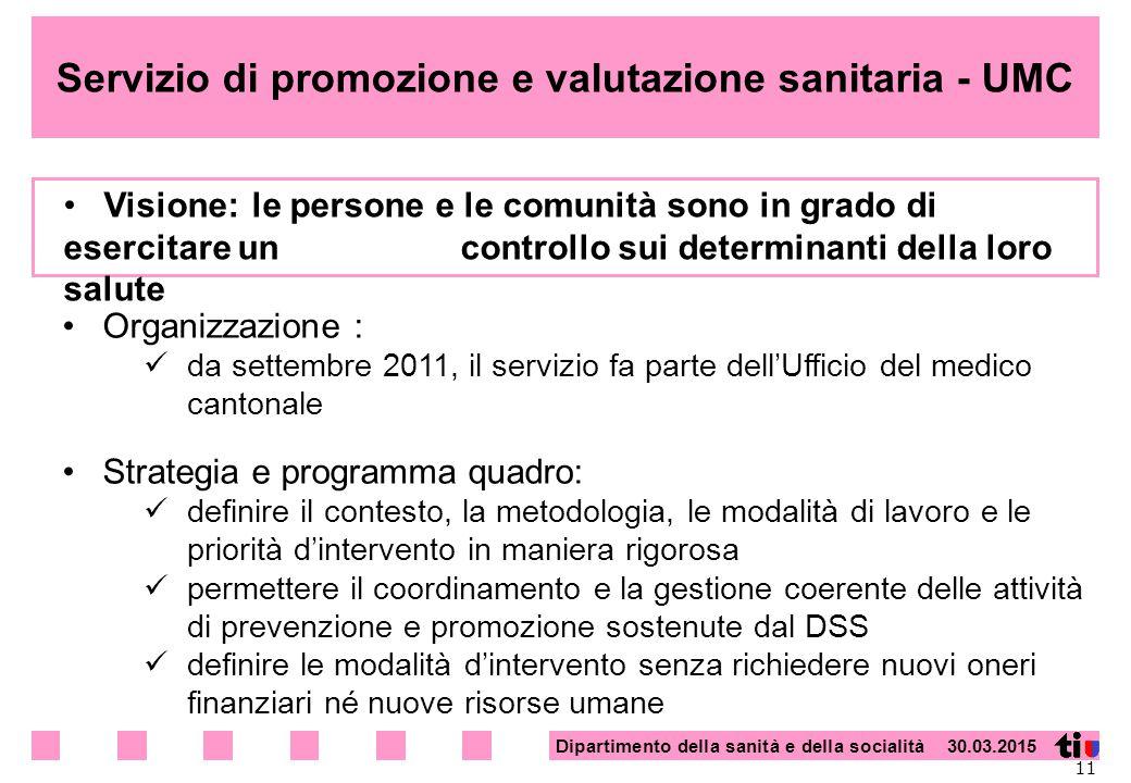 Servizio di promozione e valutazione sanitaria - UMC
