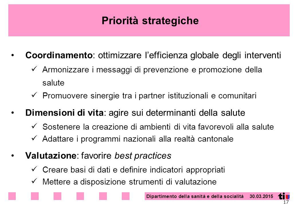 Priorità strategiche Coordinamento: ottimizzare l'efficienza globale degli interventi.