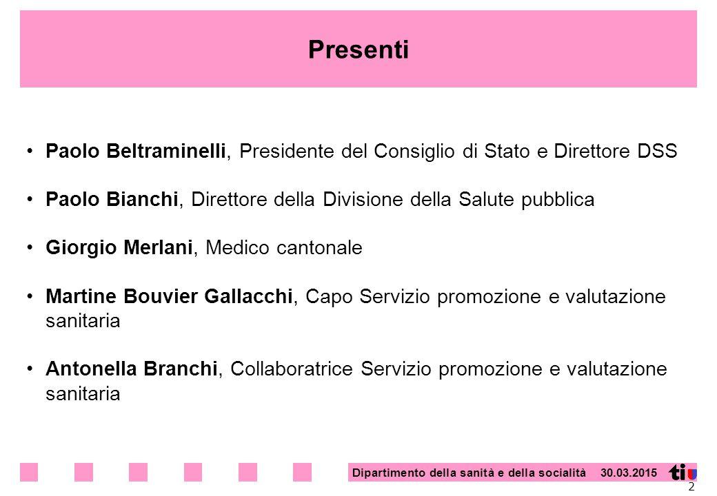 Presenti Paolo Beltraminelli, Presidente del Consiglio di Stato e Direttore DSS. Paolo Bianchi, Direttore della Divisione della Salute pubblica.