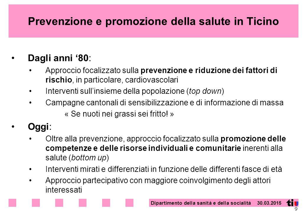 Prevenzione e promozione della salute in Ticino