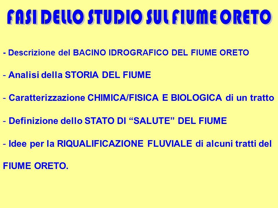 FASI DELLO STUDIO SUL FIUME ORETO
