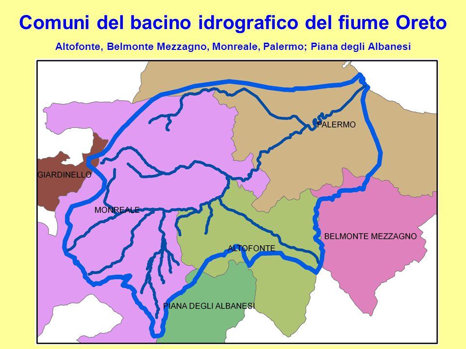 Comuni del bacino idrografico del fiume Oreto