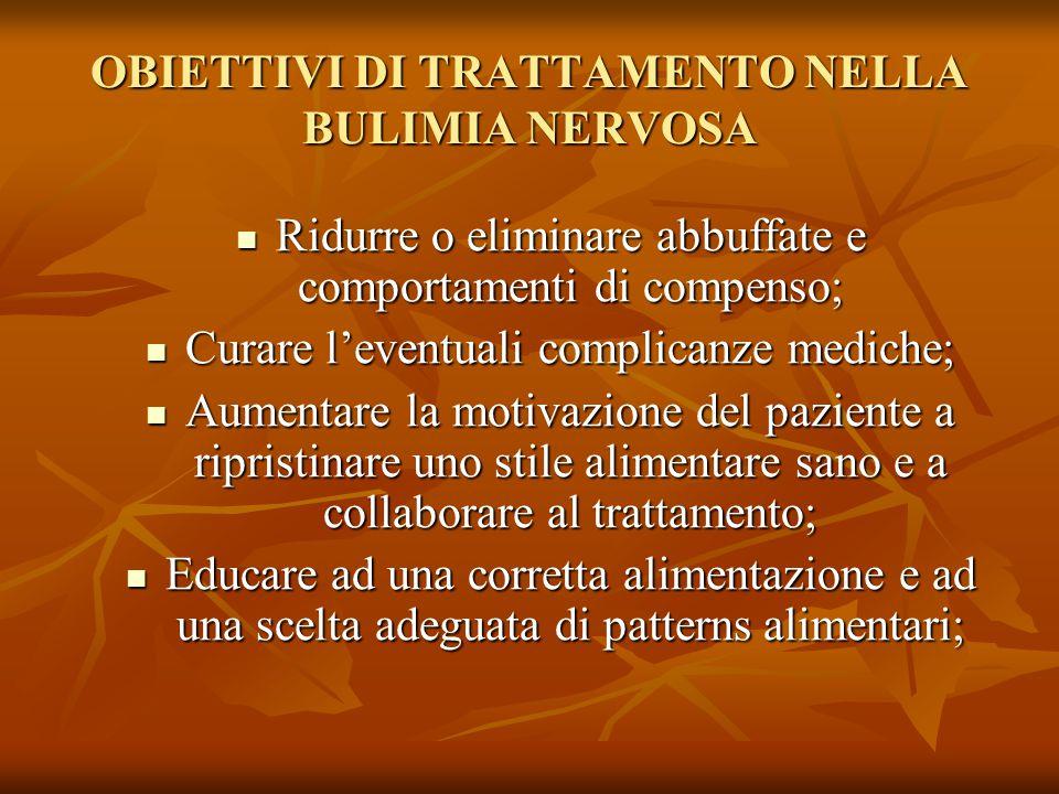 OBIETTIVI DI TRATTAMENTO NELLA BULIMIA NERVOSA