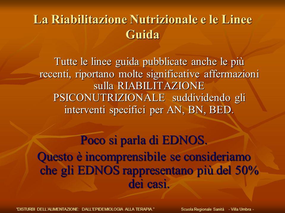 La Riabilitazione Nutrizionale e le Linee Guida
