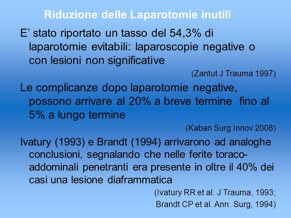 Riduzione delle Laparotomie inutili