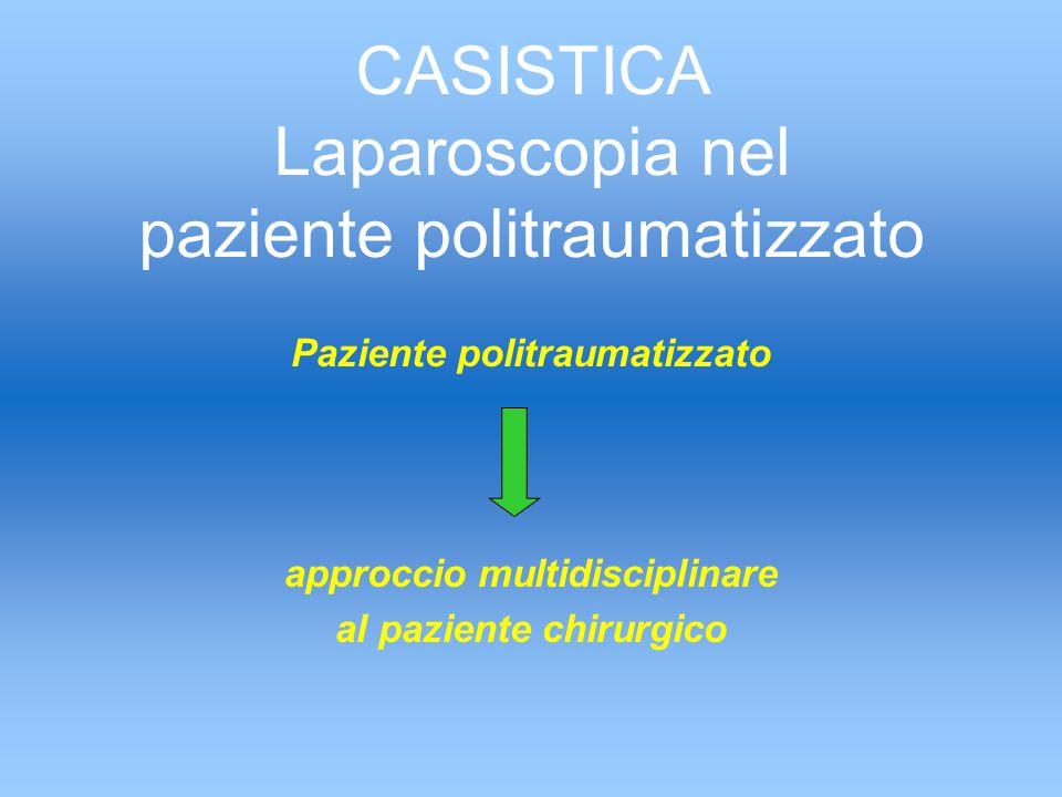 CASISTICA Laparoscopia nel paziente politraumatizzato