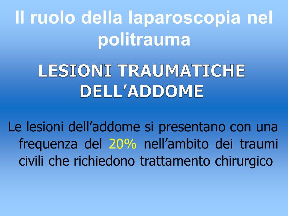 LESIONI TRAUMATICHE DELL'ADDOME
