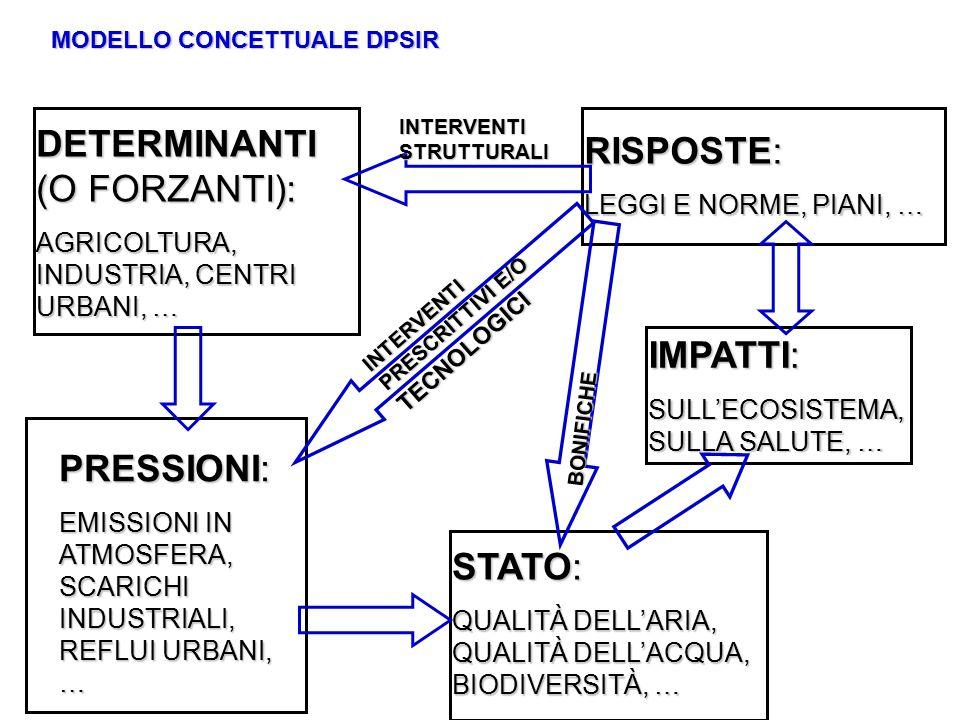 DETERMINANTI (O FORZANTI):