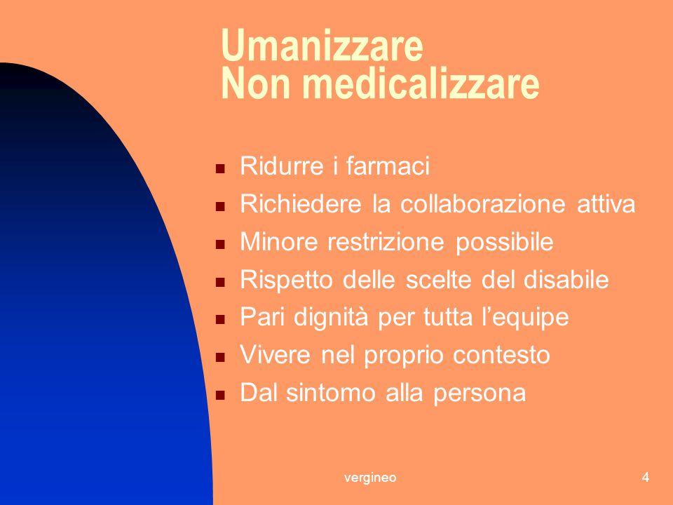 Umanizzare Non medicalizzare